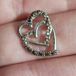 Jewelry - 925 Diamond Accent Heart Pendant